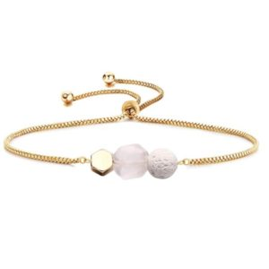 Lava and Rose Quartz Diffuser Bracelet