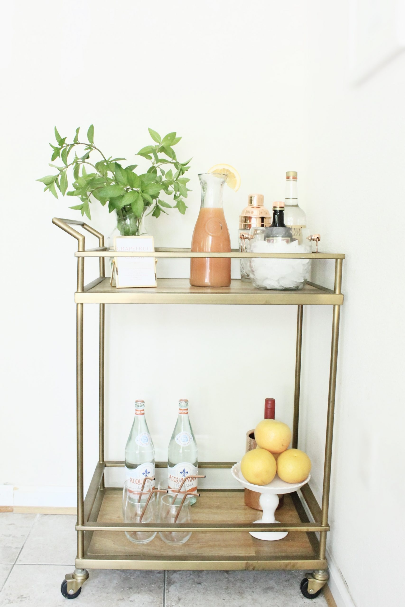 How to Style Bar Cart